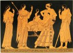Vase painting: Heracles and Iphicles