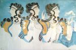 Women with long hair from Knossos fresco