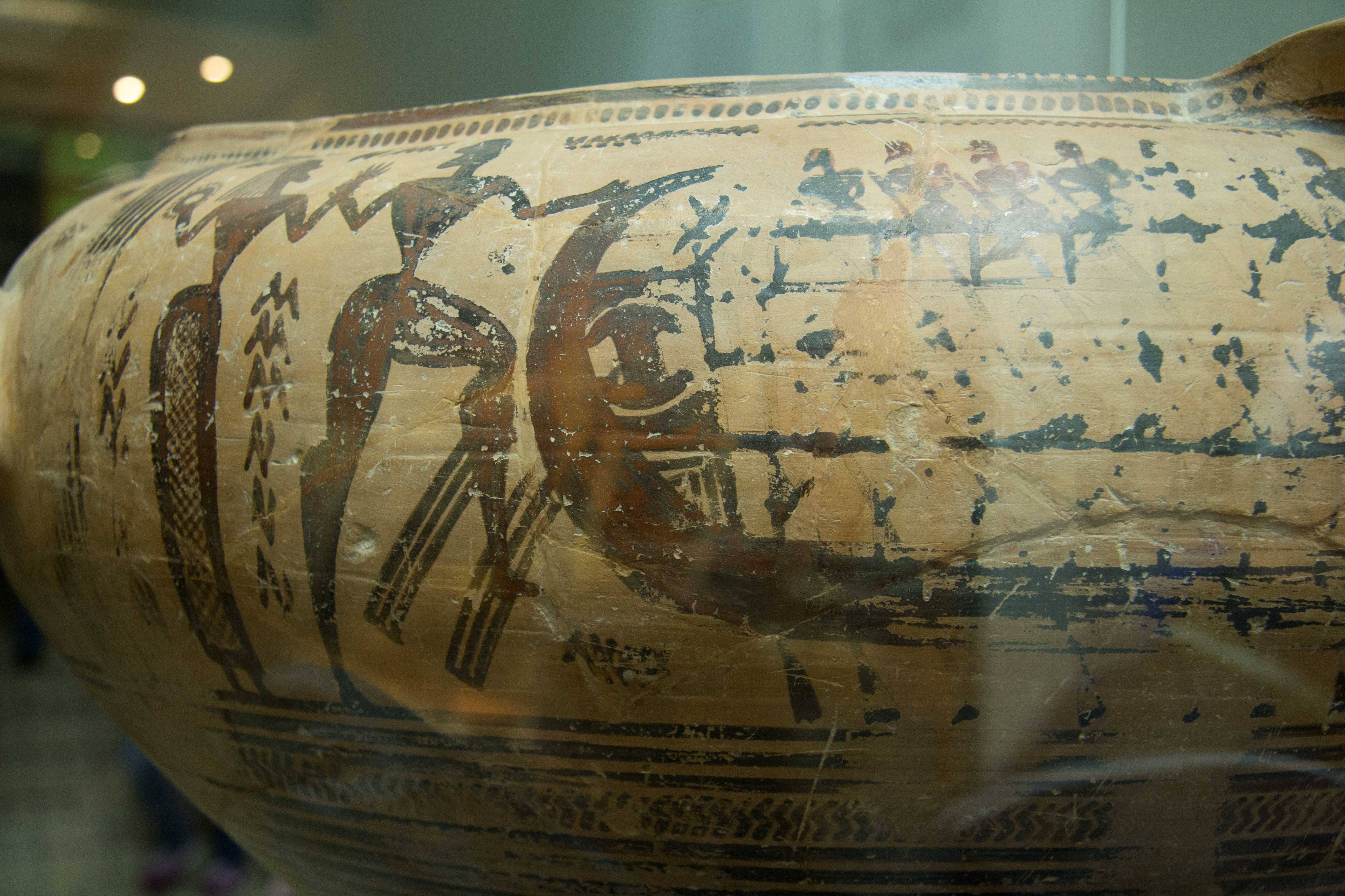 Thebes vase: detail of Ariadne and Theseus.